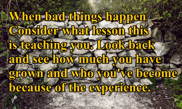 Why Bad Things Happen